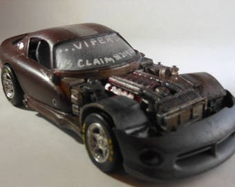 Dodge Viper,Scale Model Car,Dark Red,Classicwrecks,Rat Rod