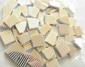 GOLD Stripes - Mosaic China Tiles - 50 Tiles