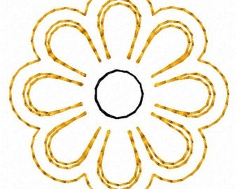 Daisy Machine Embroidery Design - Instant Download