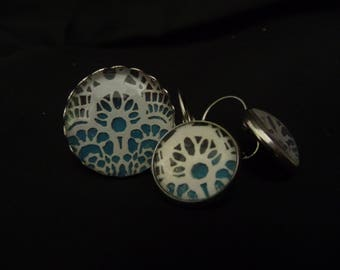 Ring and earings with lace texture - sold