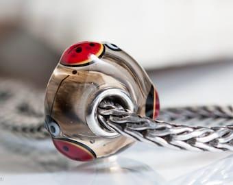 Small Core Ladybug Luck Artisan Bead SRA Lampwork Beads BHB