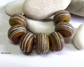 Olive Path, Lampwork Beads, SRA, UK