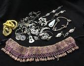 Mixed Lot KUCHI Afghan Tribal Jewelry BROKEN Parts Findings Beads Pendants Belly Dance Costume Supply KP3 Uber Kuchi®