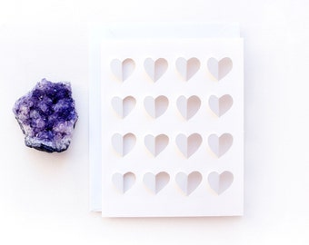 hearts greeting card | HANDMADE