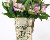 Wedding Decor, Bridal Shower Gift, Bridal Shower, Birch Vase, Wedding Gift, Wedding Vase, Rustic Bridal Shower Decorations BV111