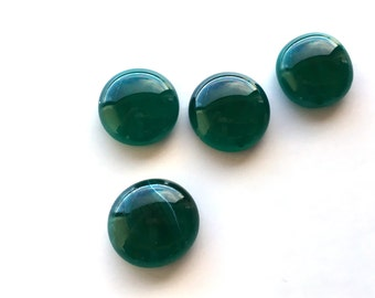 Small Green Melted Glass Cabochons