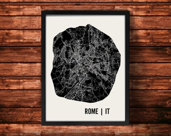 Rome Map Art Print | Rome Print | Rome Art Print | Rome Poster | Rome Gift | Wall Art
