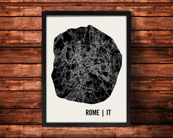 Rome Map Art Print   Rome Print   Rome Art Print   Rome Poster   Rome Gift   Wall Art