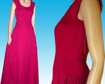 80s HOUSE of BIANCHI Prom Dress UNWORN Bust 36 Amazing Style Smocked Skirt Yards and Yards of Fabric Fushia Made in United States