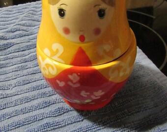 Russian Nesting Dolls Ceramic Measuring Cups