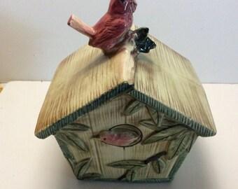 Vintage McCoy birdhouse cookie jar