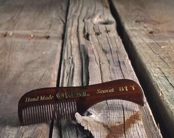 Mustache comb, handmade KENT