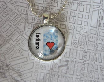 Clearance*** I Love Indiana pendant necklace
