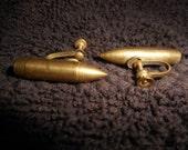 Vintage  bullet clip on Earrings