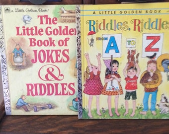 Vintage Little Golden Book of Jokes and Riddles and Riddles, Riddles from A to Z