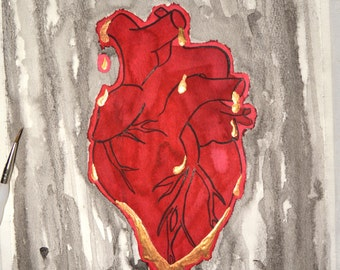The Gravity of Love - Original Painting - Watercolour and Ink