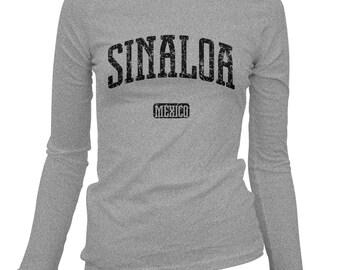Women's Sinaloa Mexico Long Sleeve Tee - S M L XL 2x - Ladies' T-shirt, Gift For Her, Sinaloa Shirt, Culiacan Shirt, Mazatlan, Los Mochis