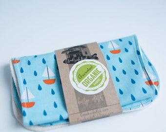 Organic Burp Pad with Organic Cotton and Organic French Terry Spit Up Pad