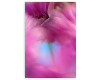Floral Art, Colorful Abstract Floral Artwork, Fine Art Photography, Vertical Photo Print, Modern Home Decor, Floral Wall Art, Purple Art