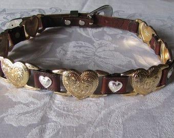 Belt Hearts on Leather Lady Nadim small size