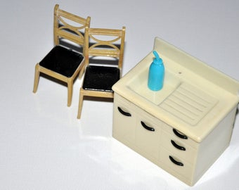 Vintage 1940-50's Renwal Kitchen Furniture - Miniature Dollhouse
