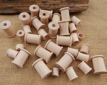 32 Wooden Craft Spools