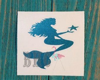 Mermaid Decal/Mermaid/Yeti Decal/Car Decal/Cooler Decal/Summer Decal/Beach Decal
