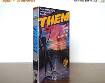 Movie Sale 1950s Atomic Sci-Fi Film THEM Camp Science Fiction VHS Movie Radioactive Ants 1987 Warner Bros. Release