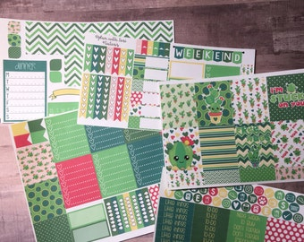 Weekly Layout Kit | Kawaii Cactus | sized for Classic Happy Planner TM or ErinCondrenLifePlannerTM