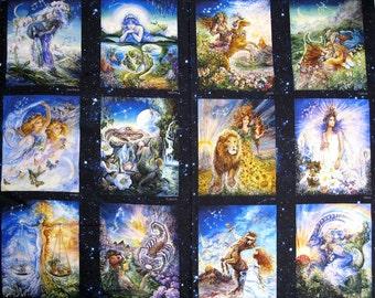 Celestials,  ZODIAC  12 different Prints on 1 yd panel/  a Hoffman Digital Design