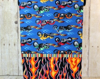 Motorcycle Pillowcase with Flames