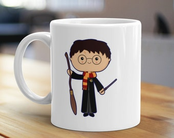 The Boy Who Lived Mug, Unique Coffee Mug, Illustrated Mug, Cute Mug, Gifts for Him, Gifts for Her, Wizard Mug, Book Lover Mug, Fantasy Mug