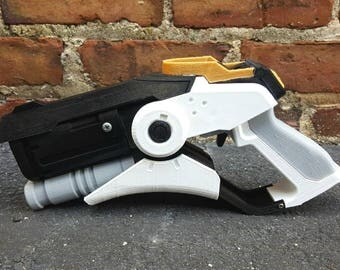 Mercy Caduceus Blaster Overwatch 3D Printed Cosplay Fan Art - full color, assembled