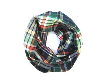 Plaid Scarf, Kid Flannel Scarf, Toddler Scarf, Child Scarf, Baby Bib Scarf, Unisex Scarf, Children Clothing, Under 20 Dollars, Ready to Ship