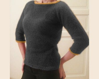 custom made hand knitted mohair sweater