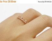 70% OFF TIARA  ring >> 18k rose gold  teeny tiny tiara crown ring