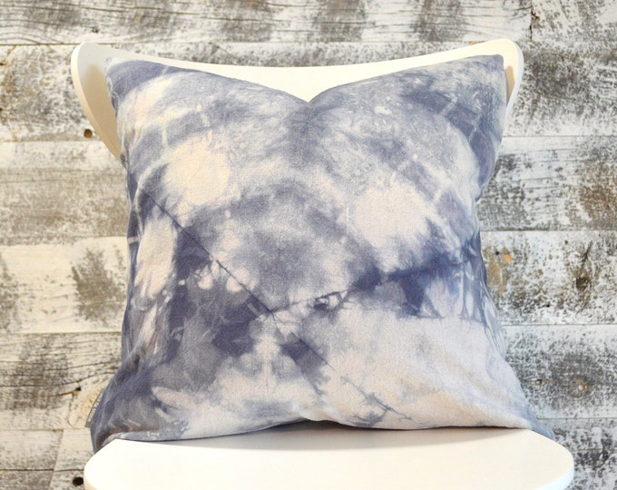 Shibori Pillow Cover - Marine navy