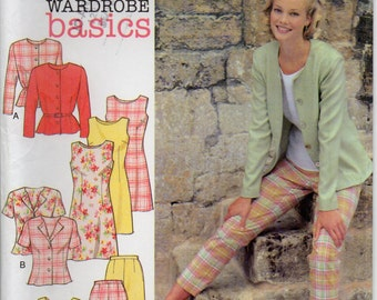 Sleeveless Dress Or Top Pants And Jacket Size 8 10 12 14 16 18 Trousers Blouse Shirt Sewing Pattern Style 2694 Plus Size