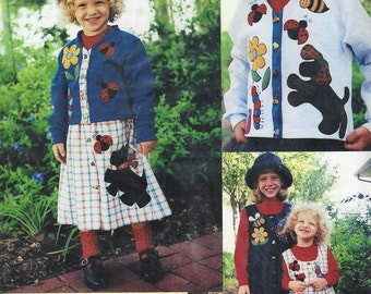 MARY'S PATTERNS~Bugs and Puppys Jacket and Jumper #PA59~Cute Sweat Shirt Applique Pattertn New