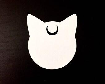 Sailor Moon Luna Artemis Silhouette Decal | Sticker | Vinyl | for Wall, Car, Window, or Laptop
