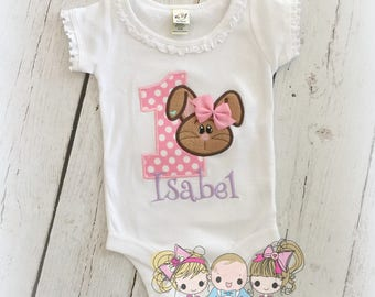 Bunny birthday shirt - Easter birthday shirt - 1st Easter shirt - First birthday shirt - Bunny rabbit birthday shirt for girls