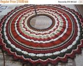 ON SALE - 10% OFF Crochet Christmas tree skirt