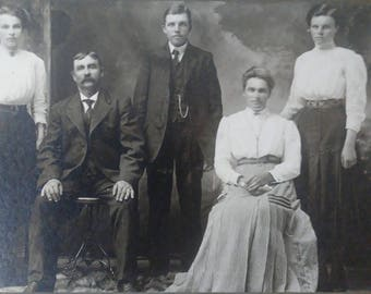 Antique Family Photograph  Siblings