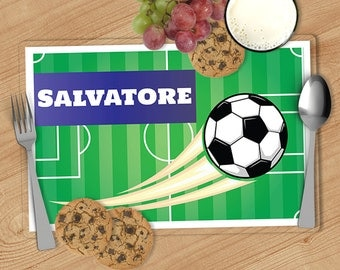 Soccer - Kids Personalized Placemat, Customized Placemats for kids, Kids Placemat, Personalized Kids Gift