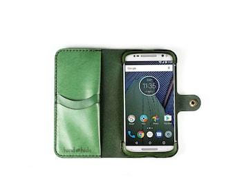 Moto G5 Plus Wallet Phone Case / leather phone case / Moto G5 plus Case / personalized phone case / handmade Moto G5 Plus case