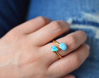 SALE - Double Turquoise Ring