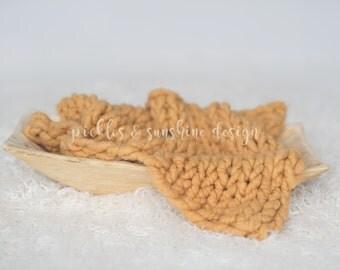 Soft plush baby SQUASH Organic ALPACA luxury big knit soft layer, ready to ship newborn prop, sitter knit layer