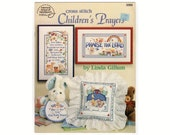 Cross Stitch Children's Prayers, 1991 American School of Needlework, Religious Counted Cross Stitch Chart Pattern Book