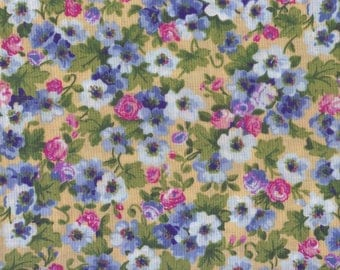 Fat Quarter, Floral Fabric, Spring Time Floral Bouquet, Country Floral Fabric, Floral Fabric, Country Fabric, 00142