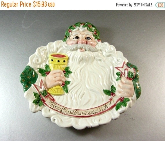 30 off sale fitz and floyd santa canape dish tray plate for Canape serving dishes
